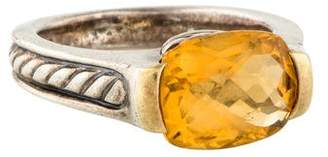 David Yurman Citrine Deco Ring