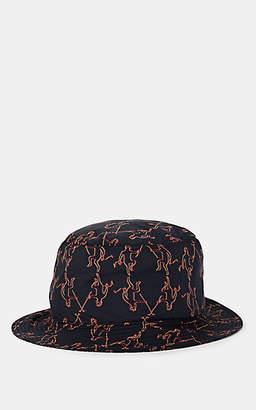 d414deede4a057 Fendi Men's Reversible Devil-Print Nylon Bucket Hat - Black