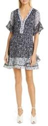 Tanya Taylor Floral Silk & Cotton Dress