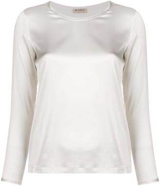 Blanca round neck blouse