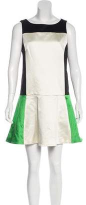 Rag & Bone Paneled Flounce Dress