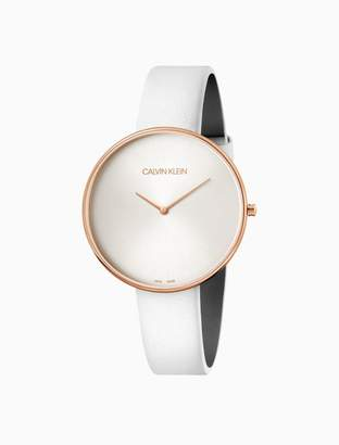 Calvin Klein Full Moon Leather Rose Gold Watch