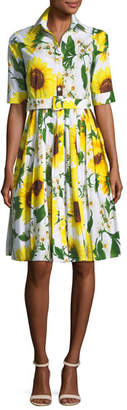 Samantha Sung Audrey Sunflower-Print Shirtdress