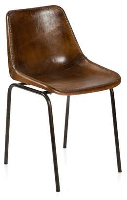 Andiez Brown Leather Dining Chair