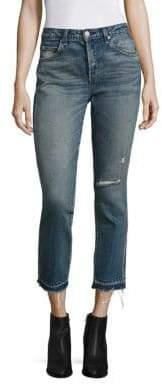 Amo Babe Distressed Straight-Leg Jeans