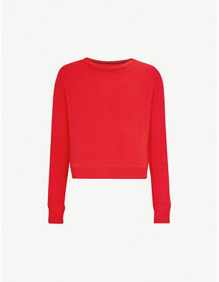 The Elder Statesman Cropped embroidered cashmere jumper