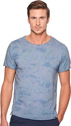 Threads 4 Thought Men's Tie Dye Raw Edge Sustainable Crew Tee