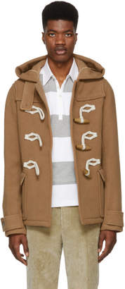 J.W.Anderson Brown Wool Knot Duffle Coat
