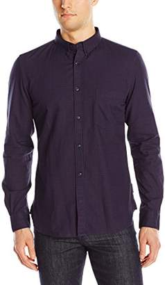 French Connection Men's Gully Check Long Sleeve Button-Down Shirt