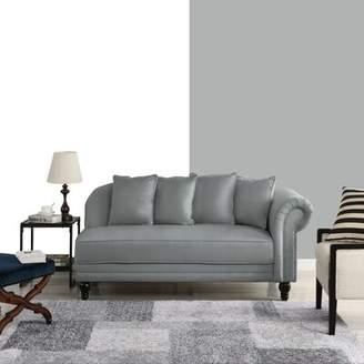 Andover Mills Poling Velvet Upholstered Chaise Lounge