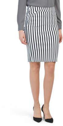 Knee Length Pull On Pencil Skirt