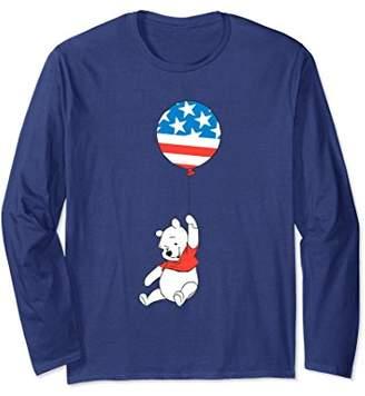 Disney USA Balloon Winnie the Pooh Bear Long Sleeve T-Shirt