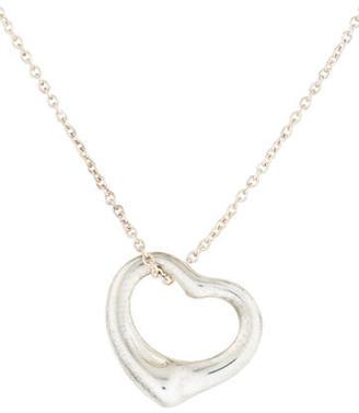 Tiffany & Co. Open Heart Pendant Necklace $145 thestylecure.com