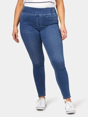 Jeanswest Tummy Trimmer Luxe Lounge Jeggings Mid Indigo