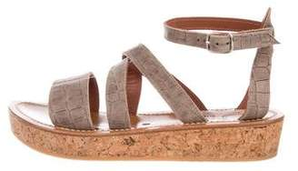 K Jacques St Tropez Leather Platform Sandals