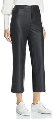 The Fifth Label Faux-Leather Cropped Pants