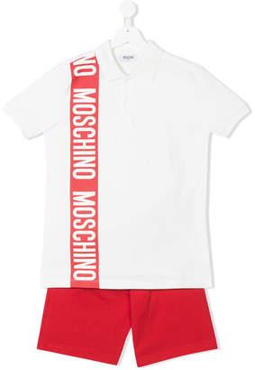 Moschino Kids polo shirt & shorts set