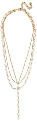 BaubleBar Odelia Layered Y-Chain Necklace