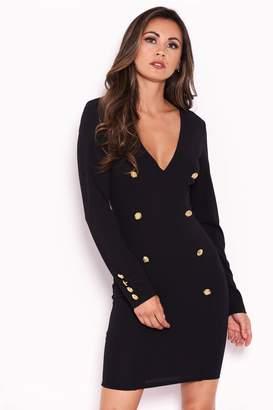 Next Womens AX Paris Button Front Bodycon Dress