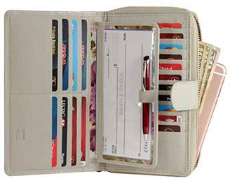 Mou Meraki Women RFID Blocking Real Leather Wallet-Clutch For Women-Shield Against Identity Theft