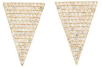 Jennifer Meyer 18K Diamond Triangle Earrings