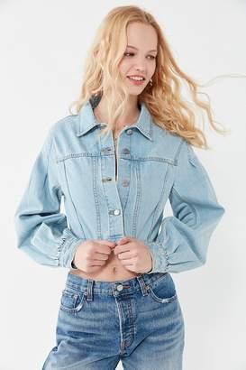 BDG Frida Denim Puff Sleeve Cropped Jacket