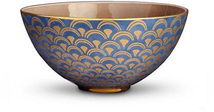 L'OBJET Fortuny Papiro Blue Bowl, Large