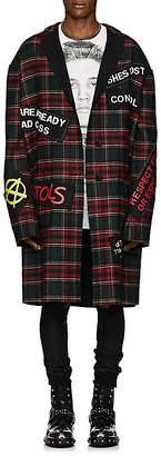"""R 13 Men's """"Punk"""" Plaid Wool-Blend Coat"""