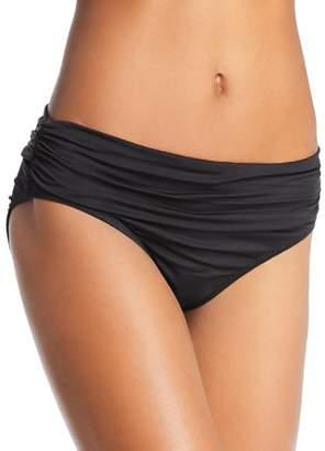 Kenneth Cole Sexy Solids Shirred Hipster Bikini Bottom