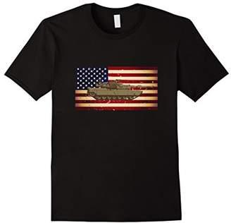 Abrams M1 Tank and American Flag Veterans T-Shirt