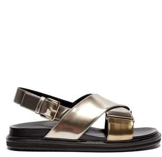 Marni Fussbett crossover-strap leather sandals