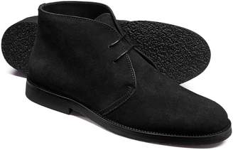 Charles Tyrwhitt Black Suede Desert Boots Size 14