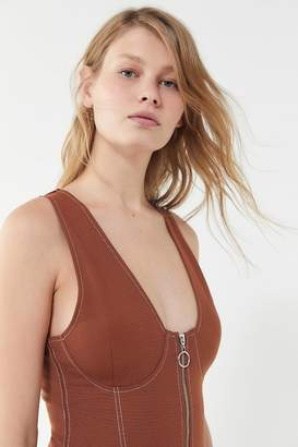 Urban Outfitters Chandler Zip-Front Bodycon Dress