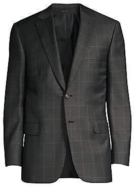 Brioni Men's Virgin Wool Windowpane Suit