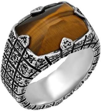 Stephen Webster 925 Sterling Silver Highwayman Bulls Eye Brickwork Ring Size 11