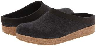Haflinger GZL Leather Trim Grizzly Clog Shoes