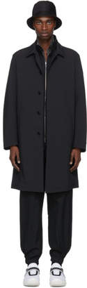 Prada Black Lightweight Mac Coat