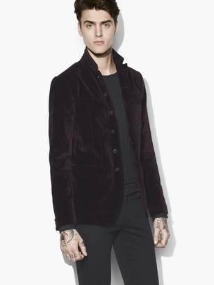 John Varvatos Velvet Military Jacket
