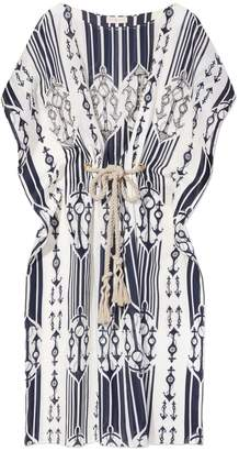 Tory Burch COTTON VOILE BOATNECK COVER-UP