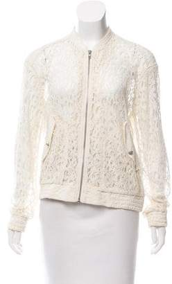The Kooples Lace Zip-Up Jacket