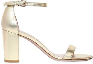 Stuart Weitzman 75mm Nearly Nude Metallic Leather Sandal
