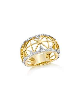 Ivanka Trump Libterté Band Ring with Diamonds in 18K Gold $3,100 thestylecure.com