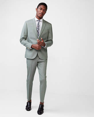 Express Slim Olive Cotton Blend Suit Pant