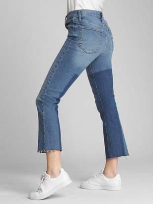 Gap High Rise Crop Flare Jeans