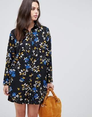 Liquorish floral shirt dress