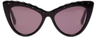 Stella McCartney Falabella Chain Cat Eye Acetate Sunglasses - Womens - Black