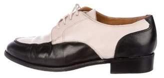 Ralph Lauren Leather Round-Toe Oxfords