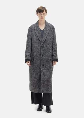 Hope Area Melange Wool Coat Black Mel