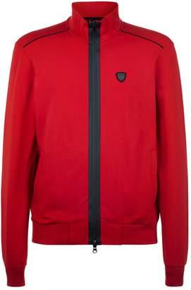 Giorgio Armani Stretch Cotton Zip-Up Sweatshirt