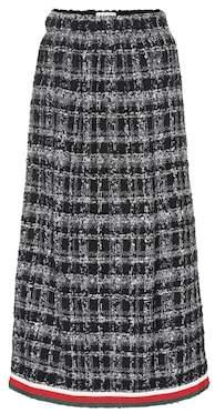 Gucci Bouclé pleated midi skirt